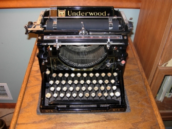 Nancy Kasner's Underwood No. 5 Typewriter